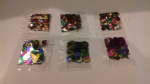 rainbow sequins / confetti - 6 different packs